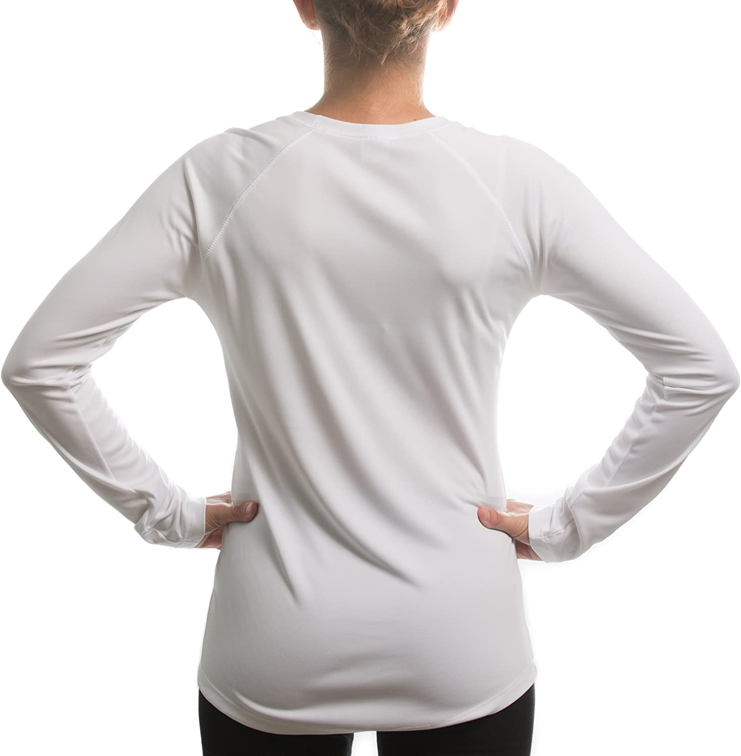 Split Time Womens Run Newark UPF Long Sleeve Running T-Shirt XX-Large White