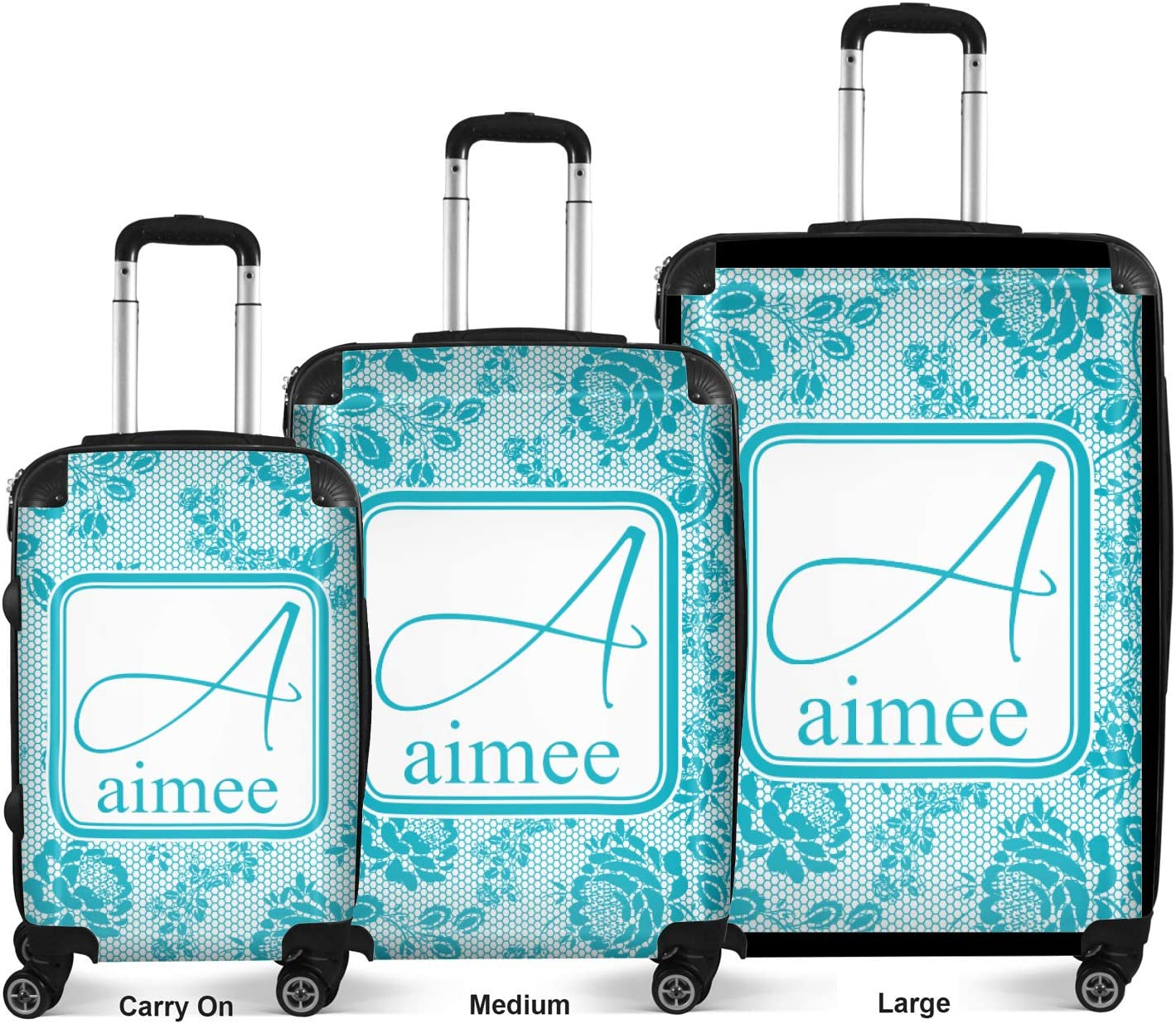 Checked 24Medium Lace Suitcase Personalized