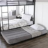 Walker Edison Twin Trundle Metal Bed, Black