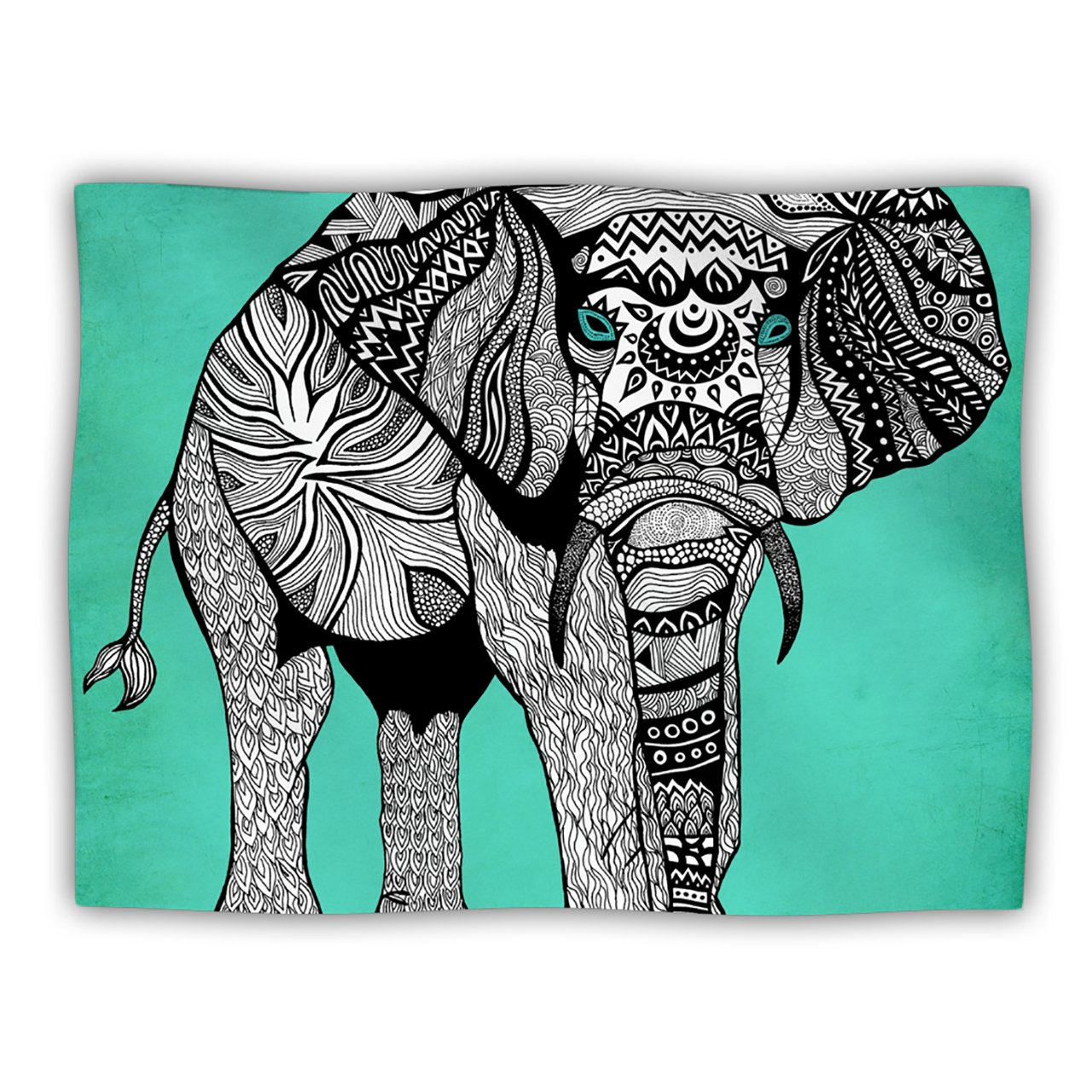 Kess InHouse Pom Graphic Design Elephant of Namibia color Pet Dog Blanket, 60 by 50-Inch