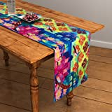 SEJ Abstract Multicolour HD Digital Premium 12 by 48 inches Table Runner