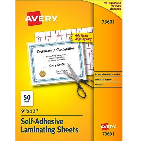 Avery Self-Adhesive Laminating Sheets, 9