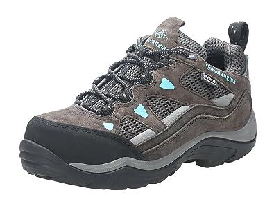QOMOLANGMA Women s Waterproof Wide Hiking Shoes Anti-Skid Walking Sneaker  for Running Trekking Outdoor Brown 65474eed2