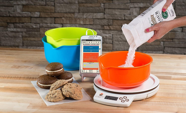 amazon com perfect bake 1 0 smart scale and recipe app kitchen