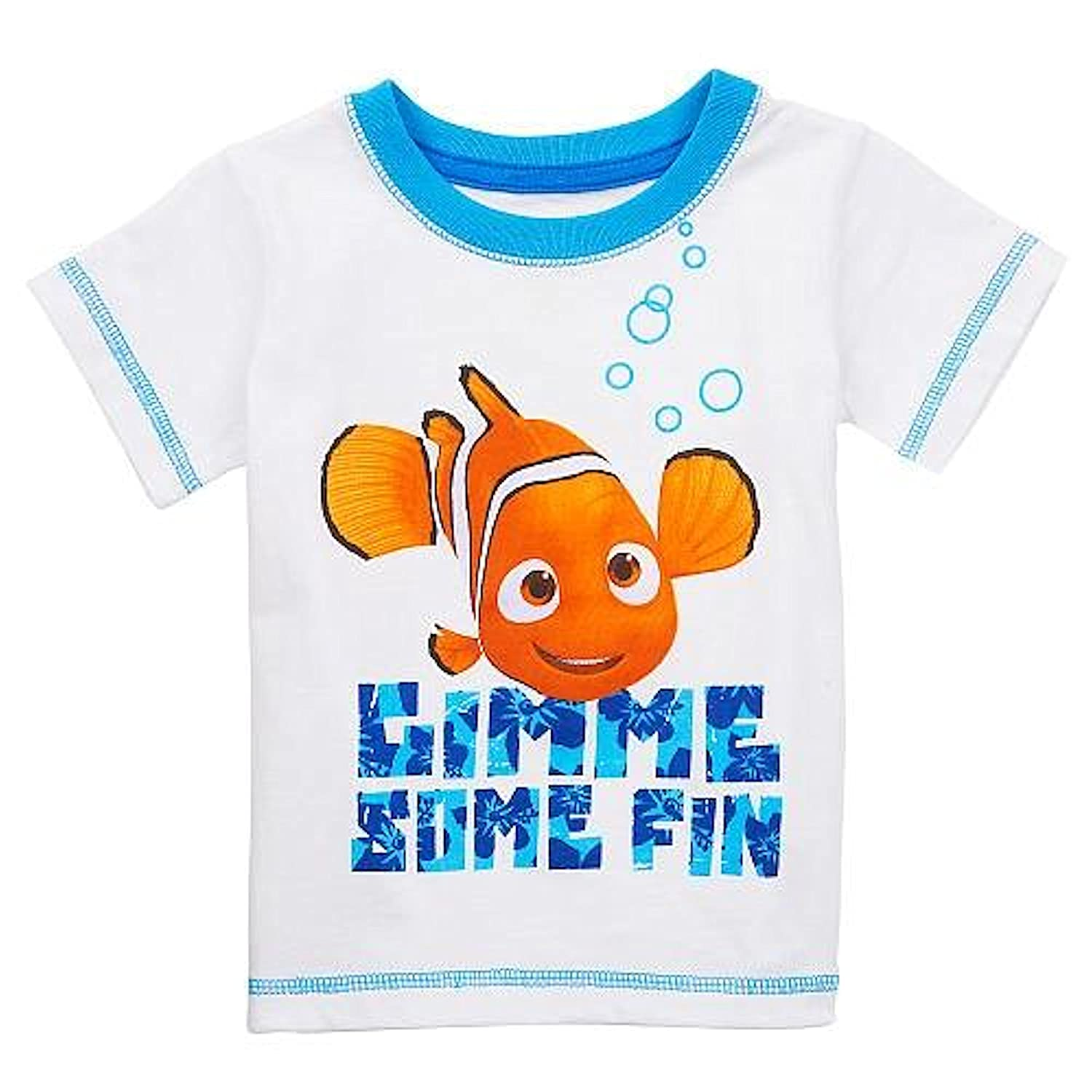 Amazon Disney Finding Nemo GIMME SOME FIN Baby Boys Tee T shirt