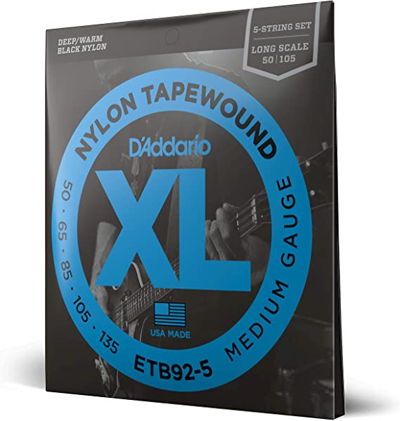 D'Addario ETB92-5 5-String Tapewound Bass Guitar Strings