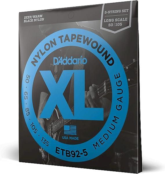 D'Addario ETB92-5 5-String Tapewound Bass Guitar Strings