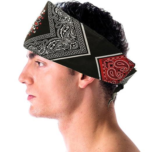 Amazon com: Sunburst Paisley Choptop Bandana Headband Head