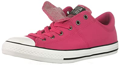 6ff9757569ab07 Converse Girls  Chuck Taylor All Star Maddie Glitter Leather Low Top  Sneaker Pink POP