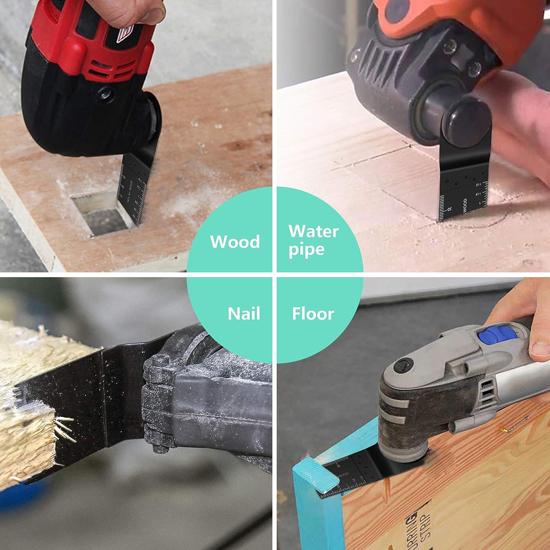 Holzs/ägeblatt oszillierend Kit Multitool f/ür Dremel Fein Multimaster Makita Bosch Mix Multitool Klingen Set