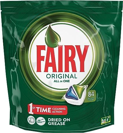 Fairy Original Todo en 1 Cápsulas para Lavavajillas - 84 Cápsulas ...