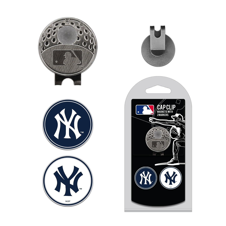 MLB ニューヨークヤンキース ゴルフキャップクリップ マーカー2本   B07H9FX353