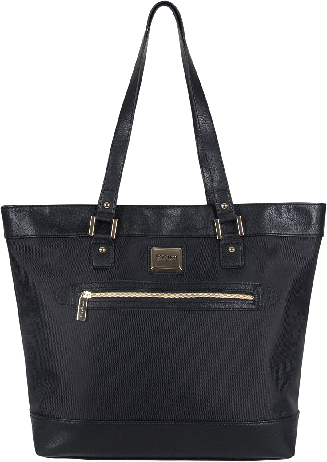 """Kenneth Cole Reaction Women's Runway Call Nylon-Twill Top Zip 16"""" Laptop & Tablet Business Tote, Black"""