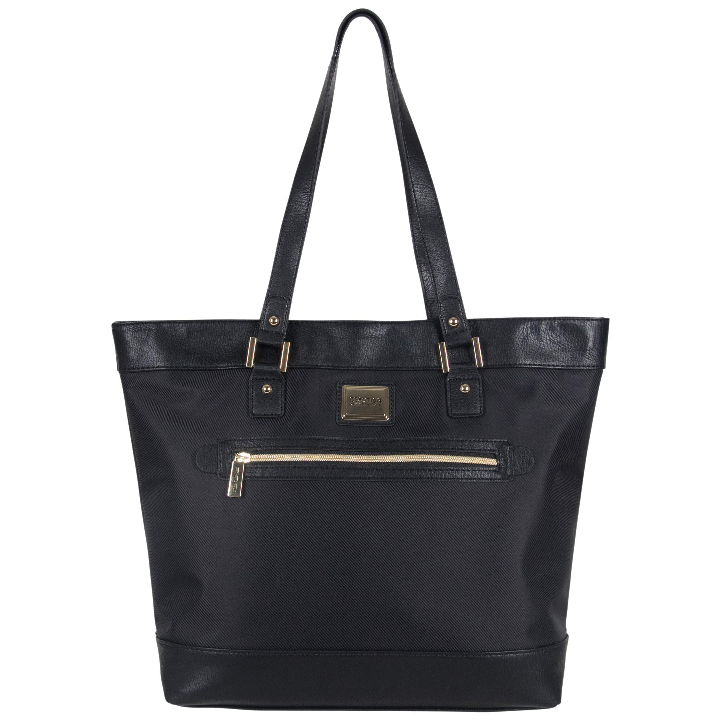 Kenneth Cole Reaction Women's Runway Call Nylon-Twill Top Zip 16'' Laptop & Tablet Business Tote, Black