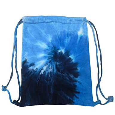 Amazon.com | Colortone Tie Dye Sports Drawstring Tote Bag (One ...