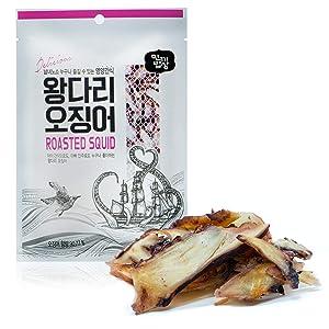 Roasted Squid Legs [ Korean Snacks ] Korean Squid Snack, Real Seafood Taste, Ready to Eat Healthy Asian Snackfood [ JRND Foods ] Three Pack