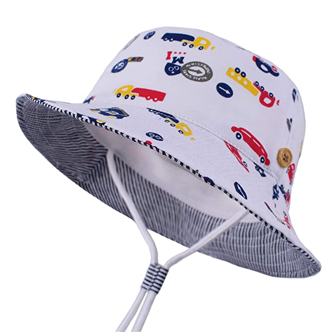7f75ea36 LANGZHEN Sun Protection Hat for Kids Toddler Boys Girls Wide Brim Summer  Play Hat Cotton Baby