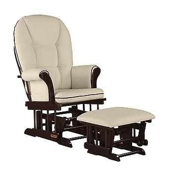 Surprising Shermag Combo Glider Chair And Ottoman White Beige Short Links Chair Design For Home Short Linksinfo