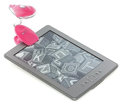 eKit CLBKEKPI - Lámpara de lectura Kindle y eReader, rosa: Amazon ...
