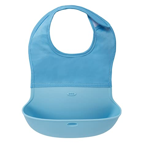 Oxo Tot - Babero-plegable azul: Amazon.es: Bebé