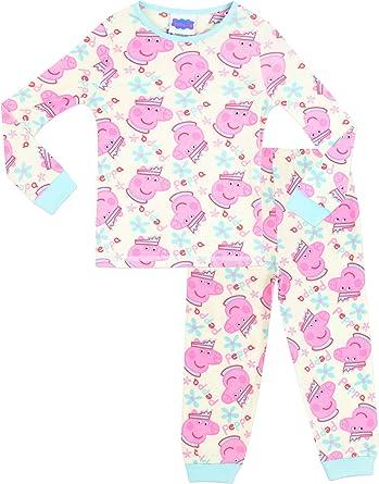Peppa Pig Pijamas para Niñas Ajuste Ceñido Rosa 2-3 Años