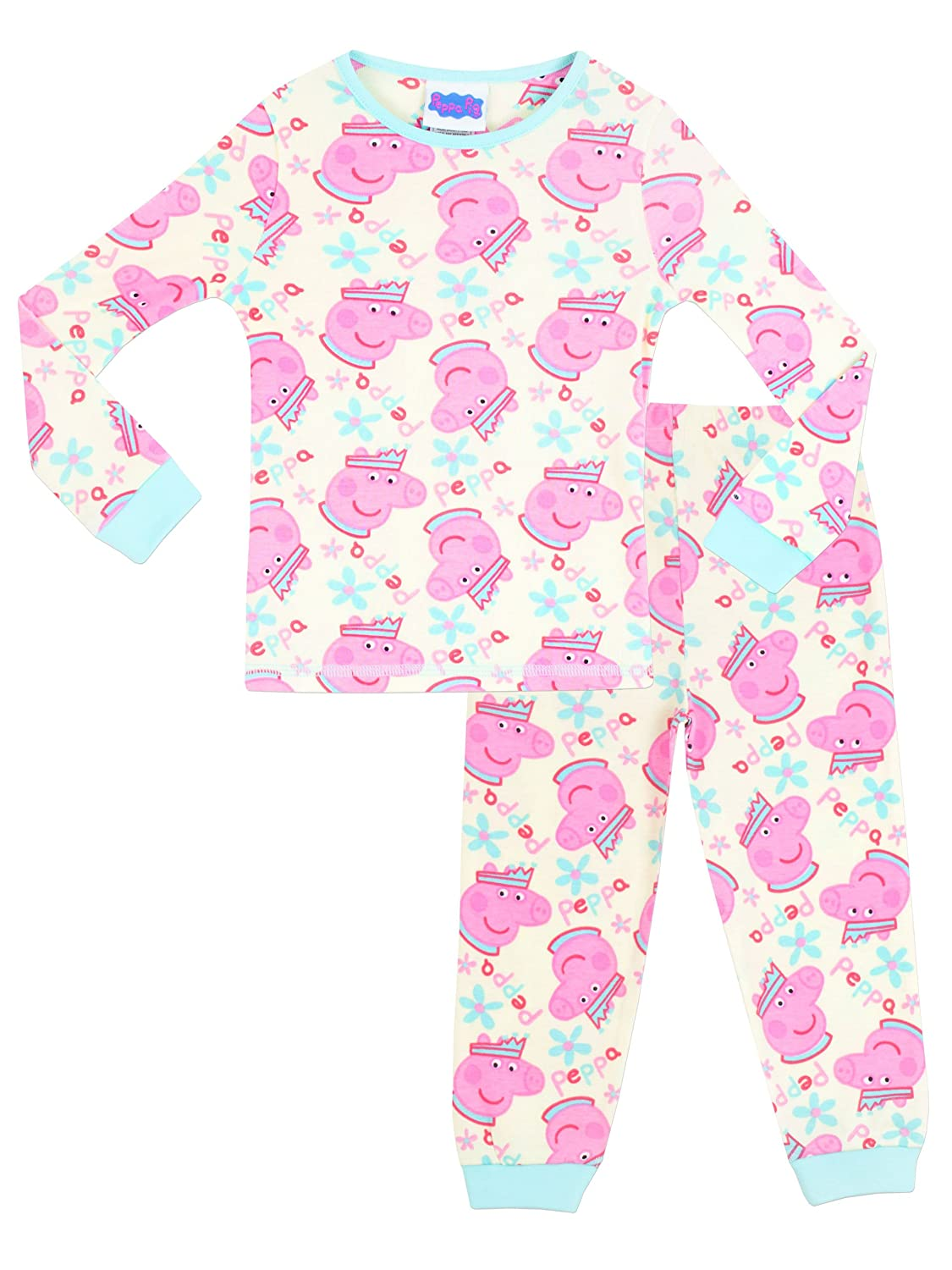 Character UK Peppa Pig Girls Peppa Pig Pyjamas Snuggle Fit Ages 18 Months To 8 Years