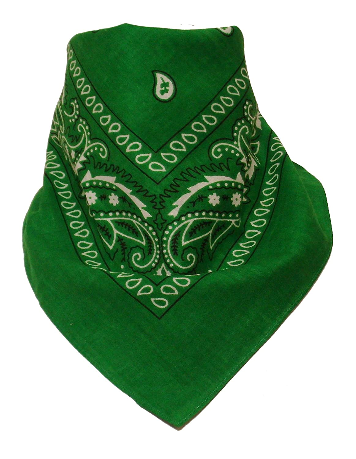 Bandana with original Paisley pattern in green 2Store