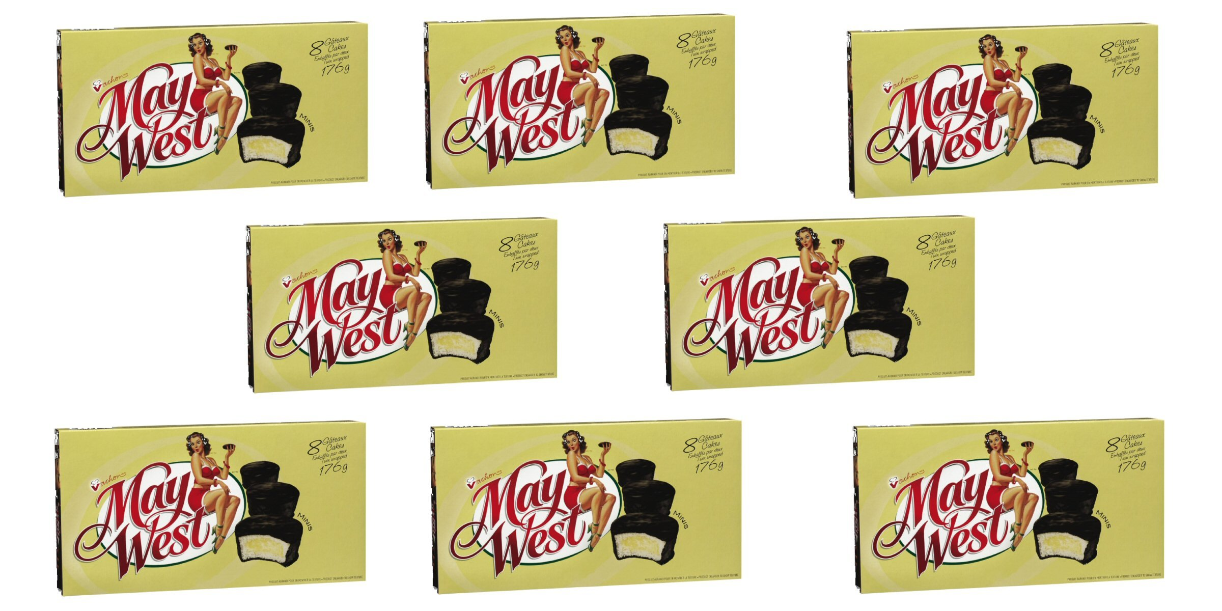 (8 Box) 6 Cakes Vachon the Original May West Cakes