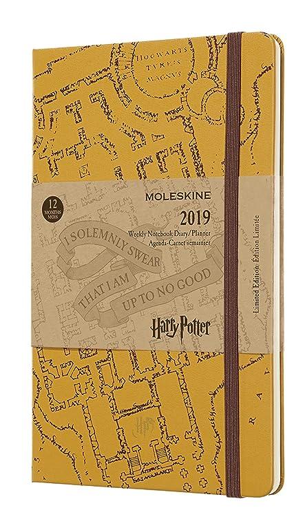 Moleskine DHP12WN3Y19 - Libreta semanal 12m de edición limitada Harry Potter, grande, color beige
