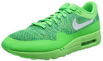 new product 96665 735f5 Nike Air Max 1 Ultra Flyknit, Chaussures de Running Entrainement Homme,  Vert (Voltage