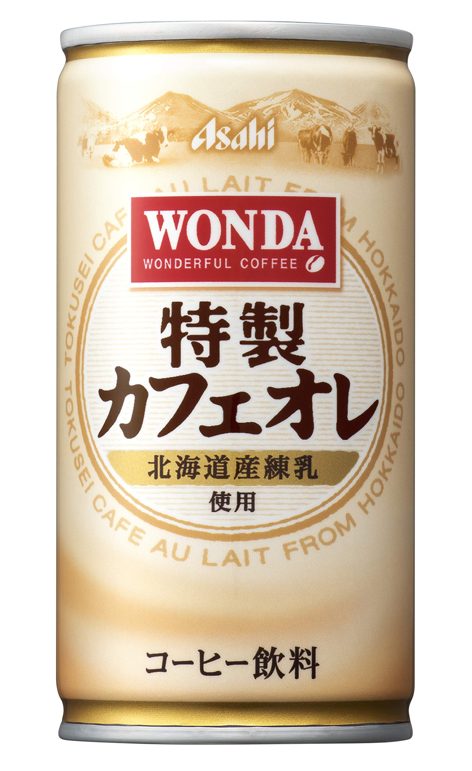 Asahi WONDA (Wanda) special cafe au lait 185g cans X30 pieces