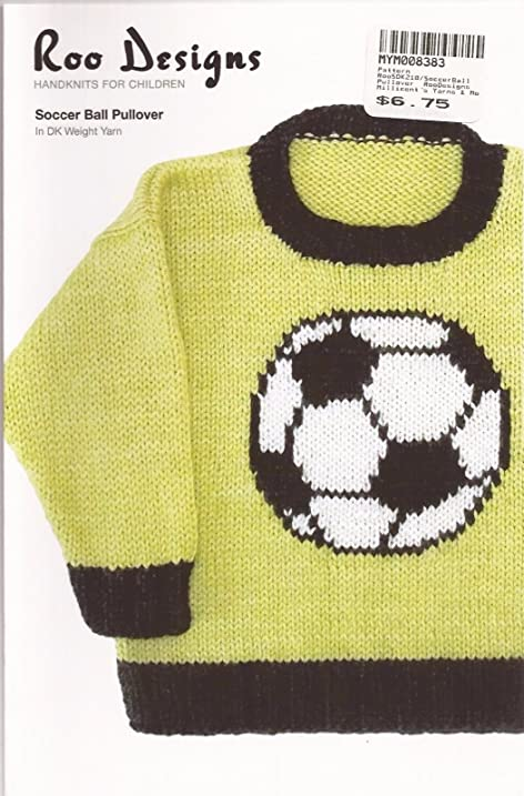 Amazon Roo Designs Childs Soccer Ball Pullover Knitting