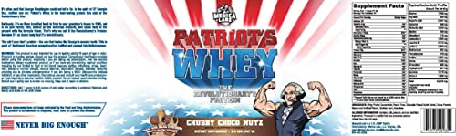 Merica Labz Patriot s Whey The Revolutionary s Protein for Athletes 2lb Tub Chubby Choco Nutz