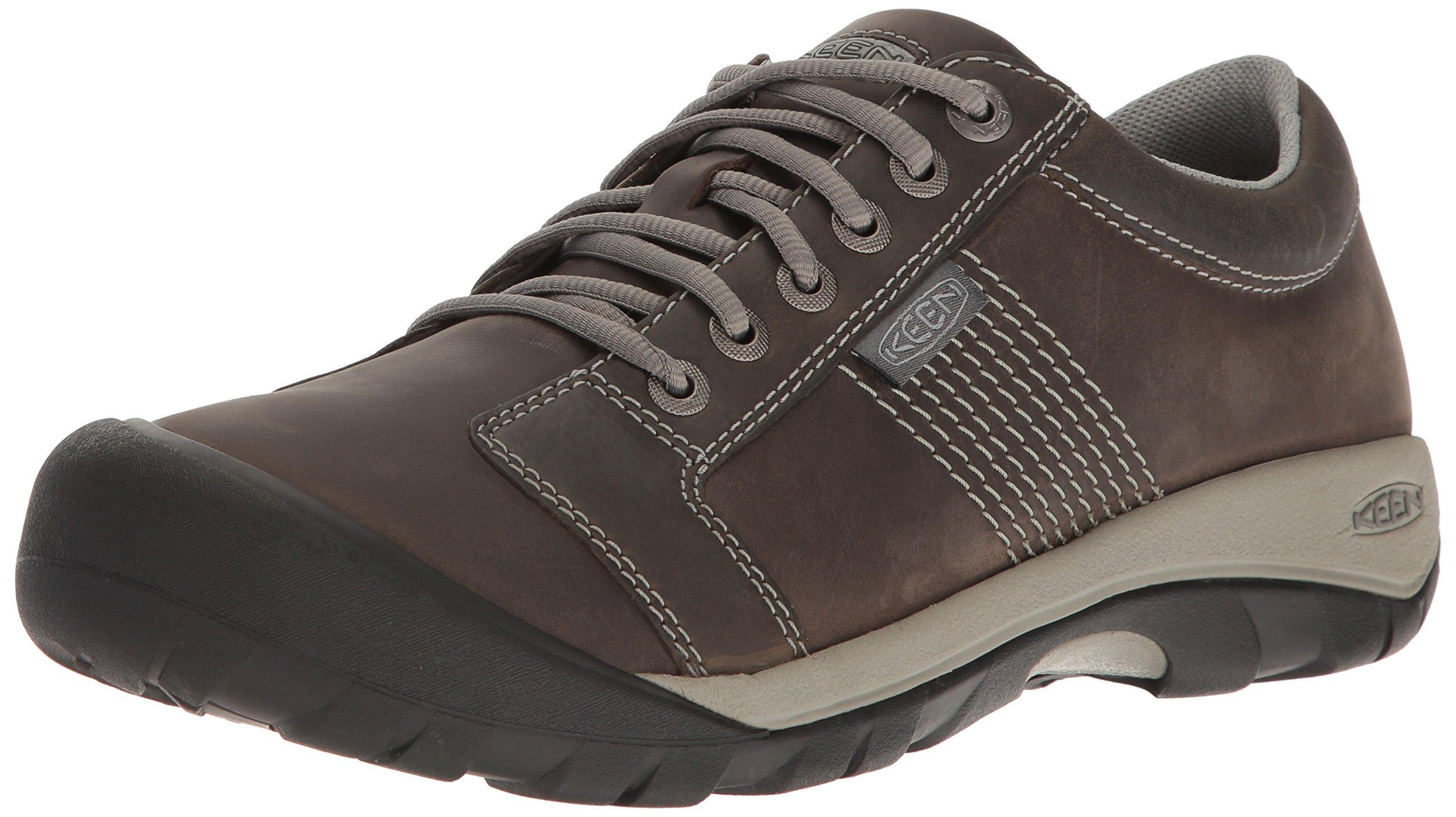 KEEN Men's Austin Hiking Shoe, Gargoyle/Neutral Gray, 8.5 M US