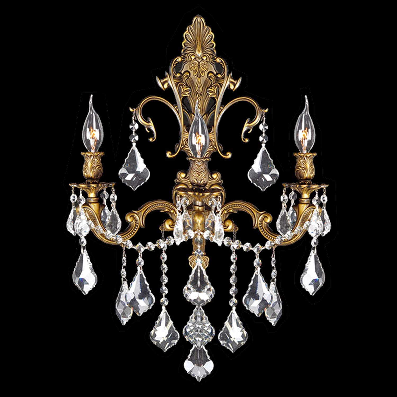 Worldwide lighting versailles collection 3 light antique bronze worldwide lighting versailles collection 3 light antique bronze finish crystal wall sconce 17 w x 24 h large amazon aloadofball Image collections