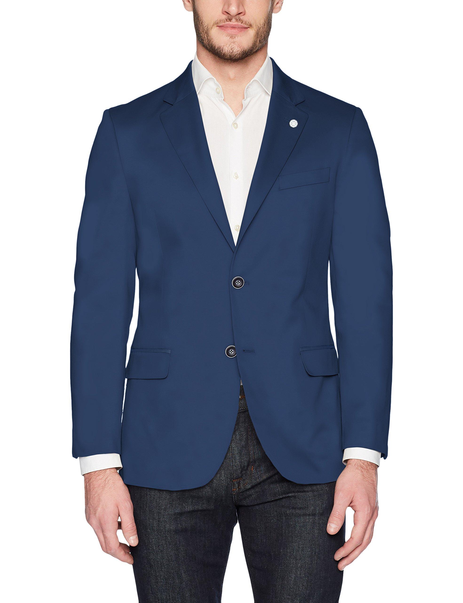 Nautica Men's Solid Cotton Suit Separate Jacket, Blue, 46L