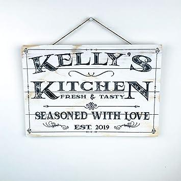 Amazon.com: Artblox Vintage Rustic - Cartel de cocina (8.0 x ...
