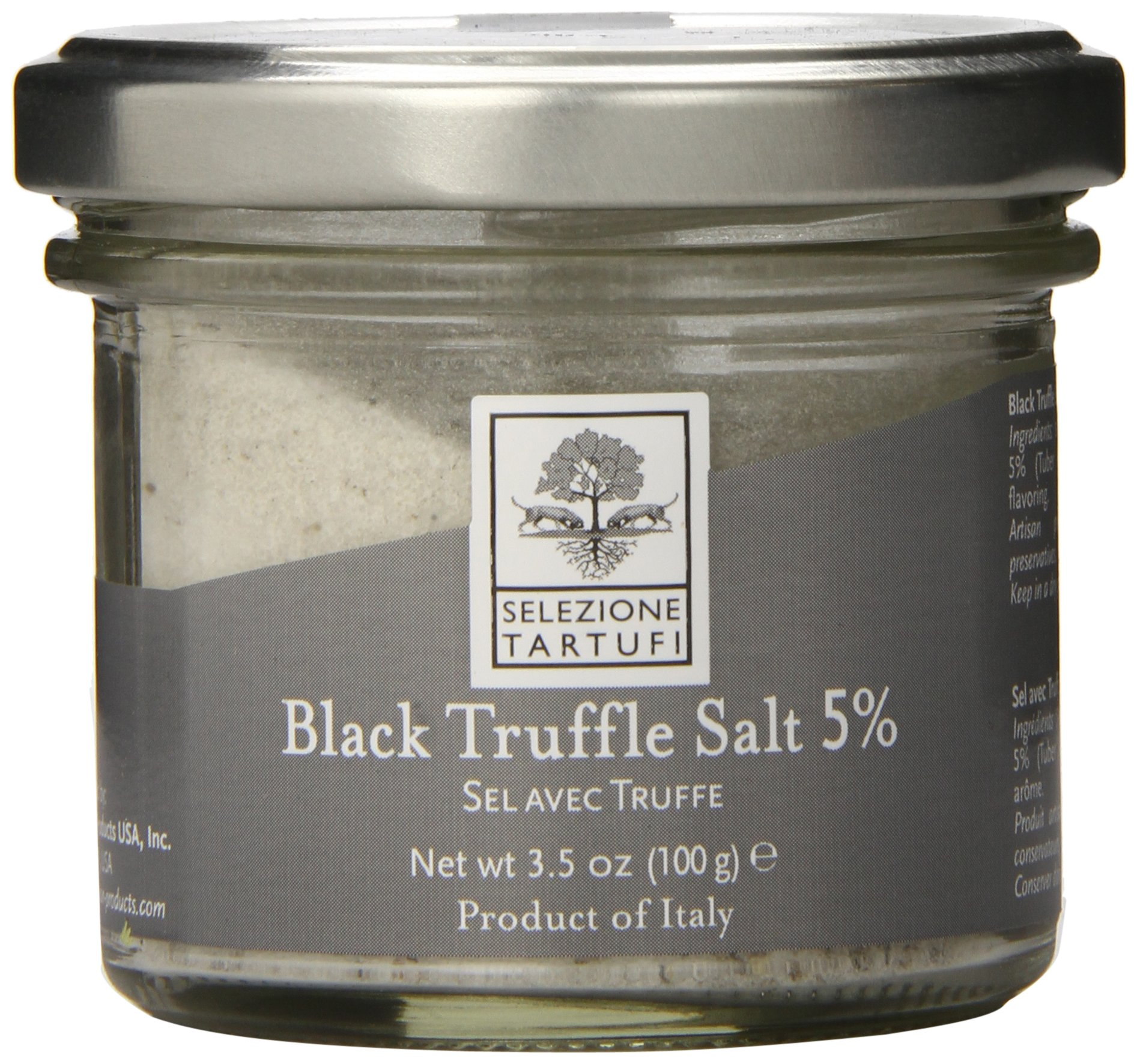 Selezione Tartufi 5% Black Truffle Salt, 3.5 Ounce by Selezione Tartufi