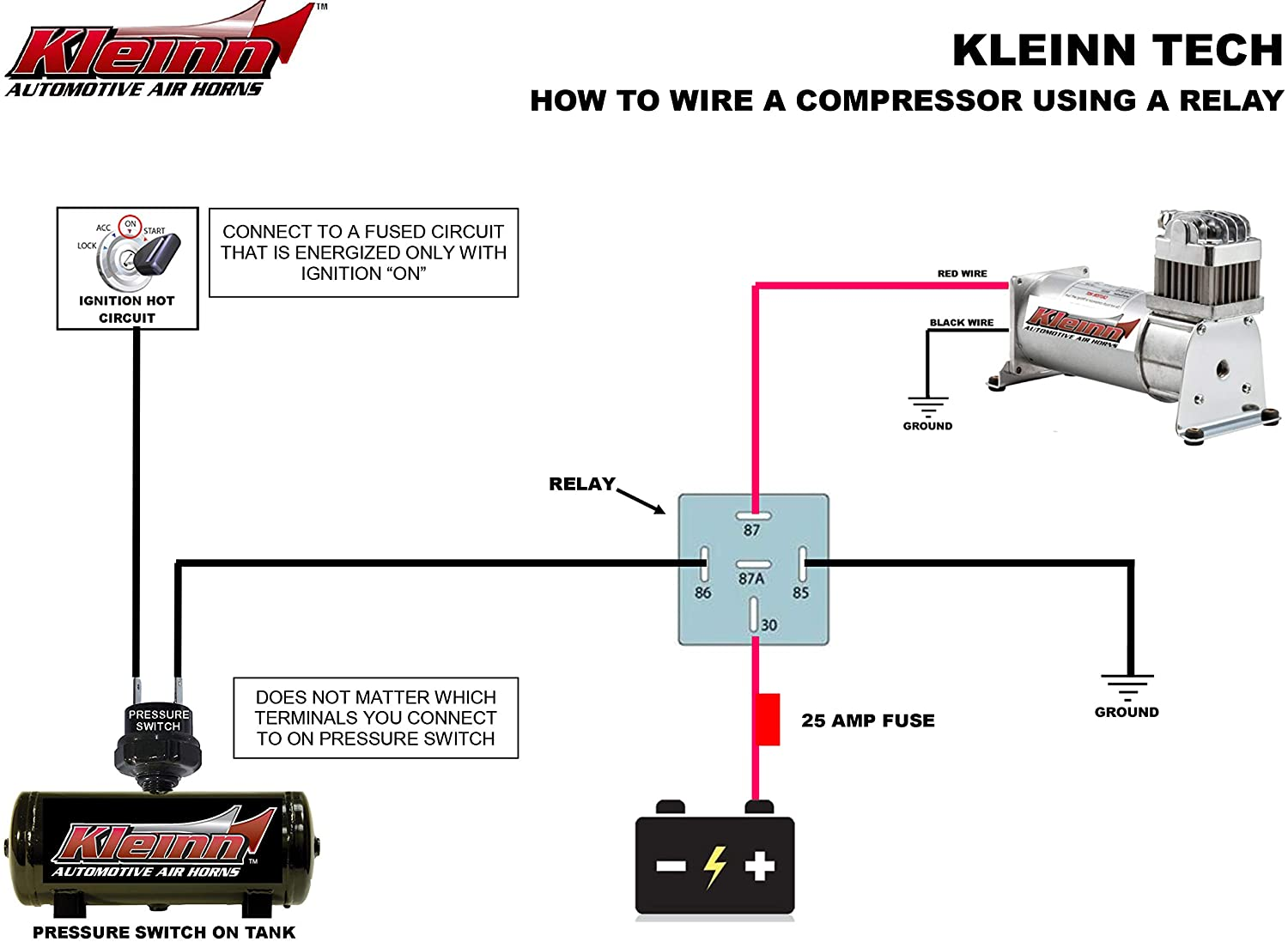 Kleinn Air Horn Diagram - Wiring Diagrams DataUssel