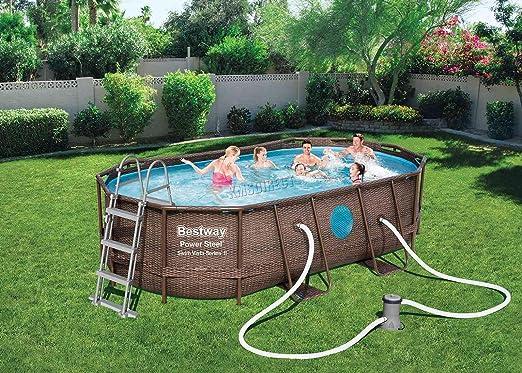 BestWay Power 56714 - Juego de piscinas con marco de acero ovalado ...