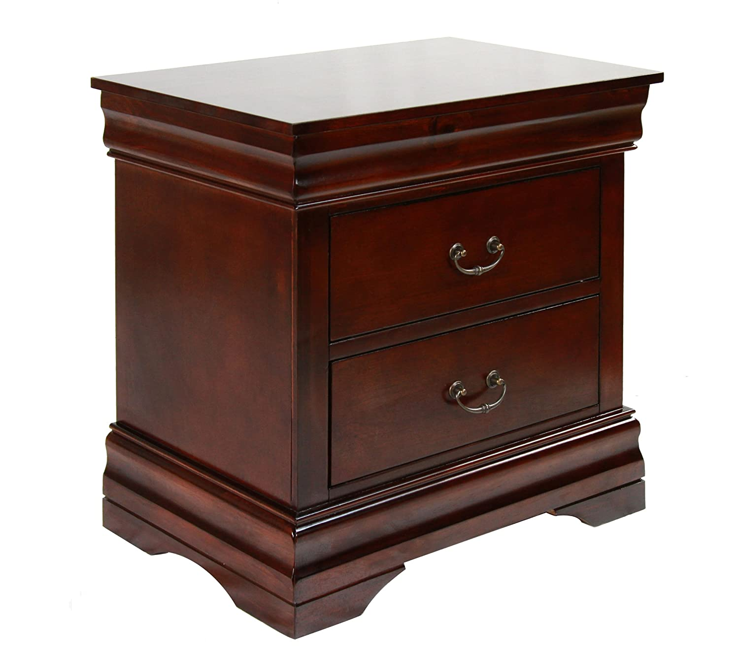 cherry finish night stand