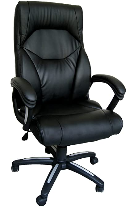 Eliza Tinsley Furniture Wellington High Back Executive Swivel Computer Desk  Armchair   Black