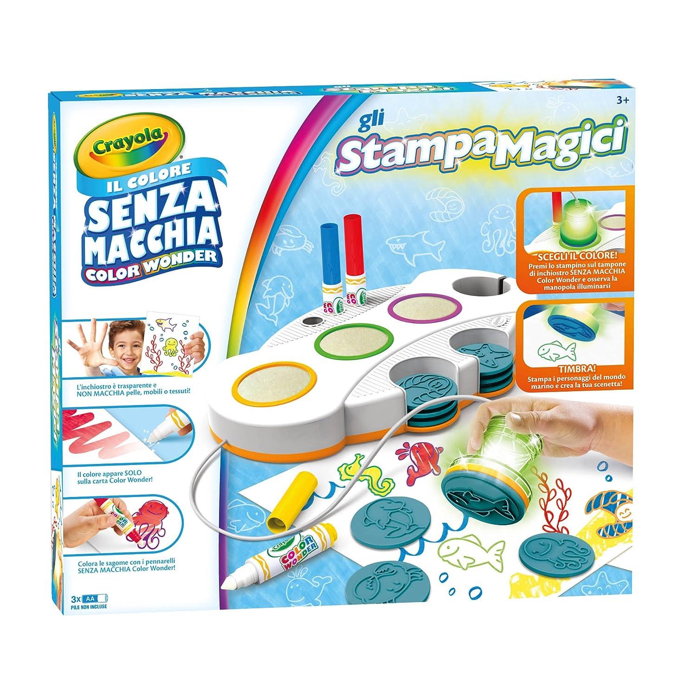 Crayola Color Wonder Gli Stampamagici Set Stampini Colore Senza