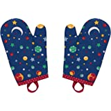 Handstand Kitchen Child's 'Stars and Planets' Pair of Oven Mitts