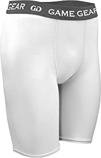 product image for Game Gear Men's and Women's Compression Short-Active Wear Underneath Clothes for Soccer, Football, Running, and Basketball. Sizes SM-XXXL (Small, White)