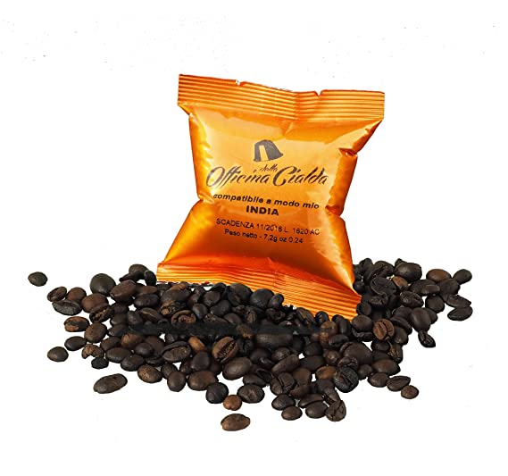 100 Cápsulas de Café Compatibles con Lavazza A Modo Mio, paquete de 100 capsulas India