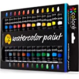 Colore Watercolor Paint Set - Premium Quality Art Painting Kit for Artists, Students & Beginners - Perfect for Landscape and Portrait Paintings on Canvas - 24 Colors Of Richly Pigmented Watercolors