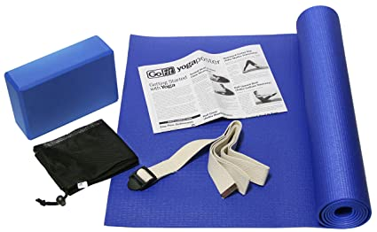 "GoFit 5 Piece Yoga Kit - 68"" x 24"" Mat"