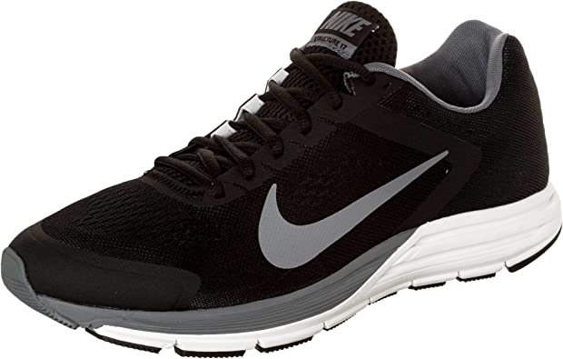 Robar a Lengua macarrónica Cooperación  Amazon.com | NIKE Men's Zoom Structure 17, Black/Reflect Silver/Cool  Grey-Summit White, 6 M US | Shoes