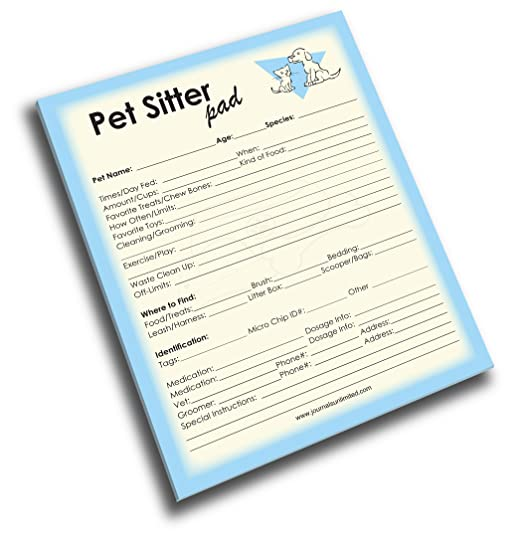 pet sitter instructions